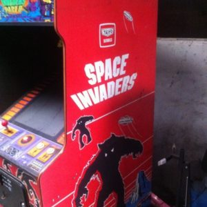 Original Red Space Invaders Arcade Machine