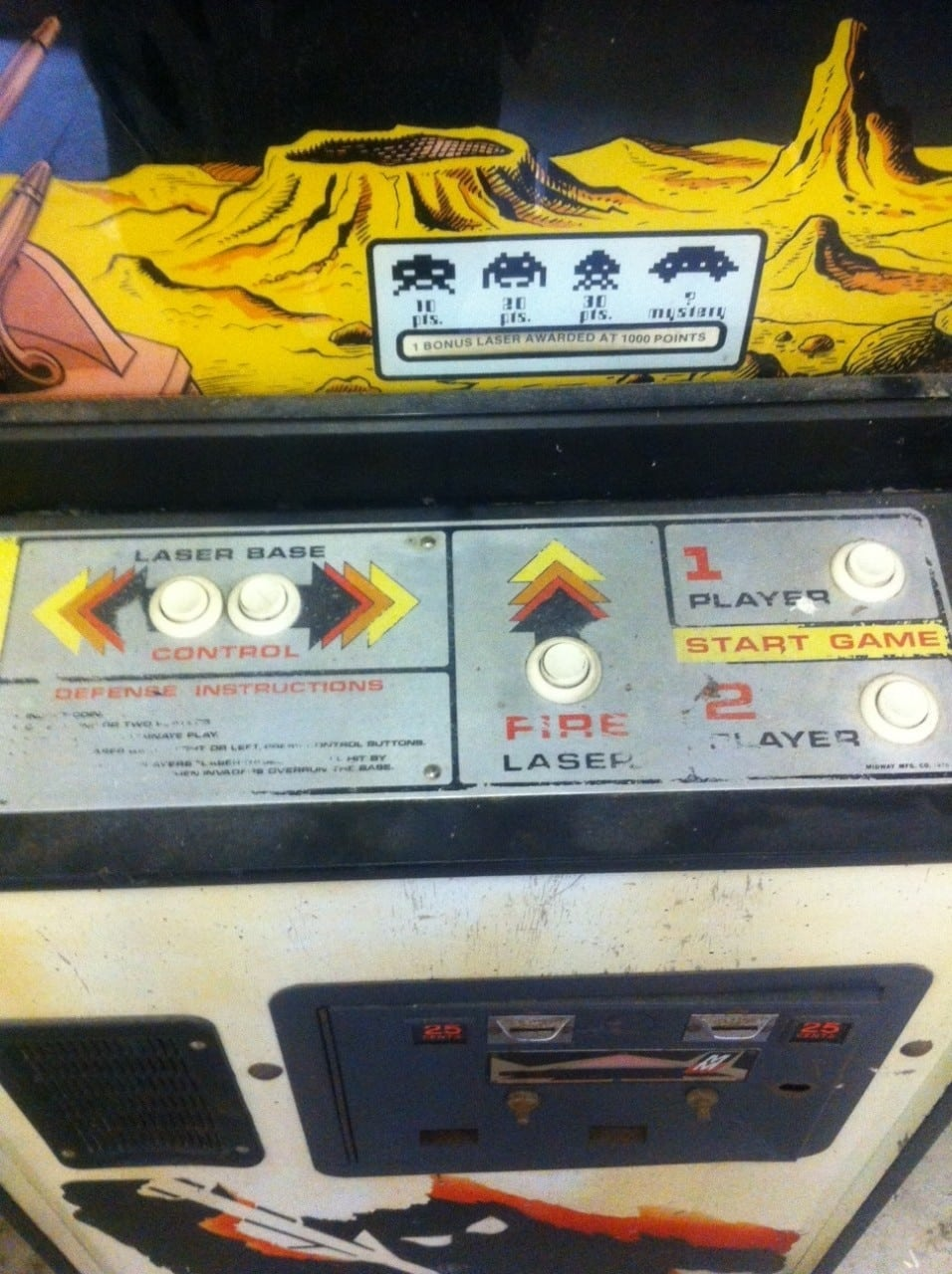 Original Space Invaders Arcade Machine