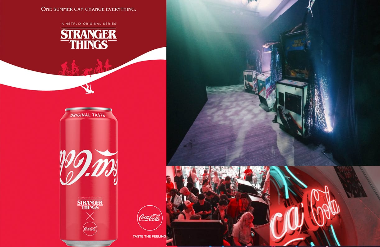 Coca Cola stranger things arcade machines case study